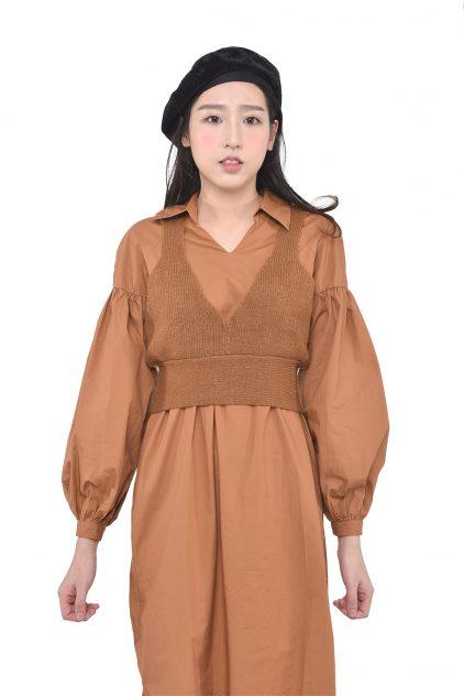 Brownie set ( Dress + Vest)