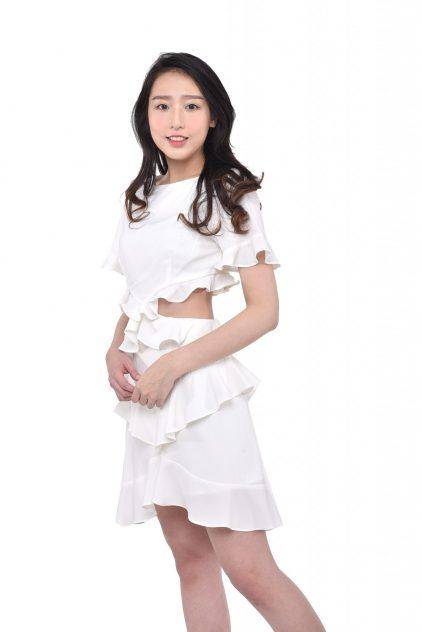 Ruffles Dress White