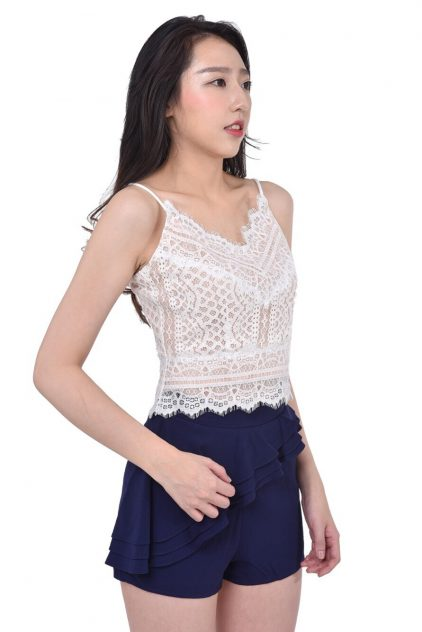 Rumi Lace Top White