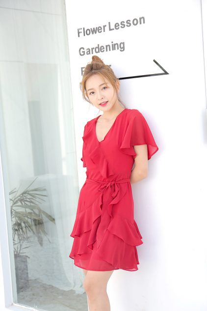 Meo Dress Red