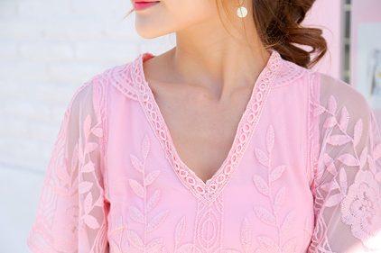 Valentine Top in Pink