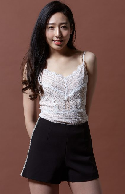 Bejeweled Short in Black