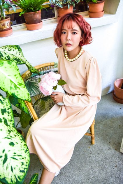 Vintage Dress in Brown