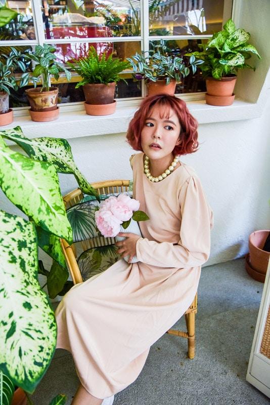 Vintage Dress in Brown 4