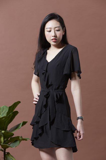 Meo Dress Black