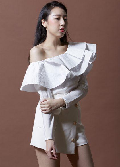 Luna Blouse in White