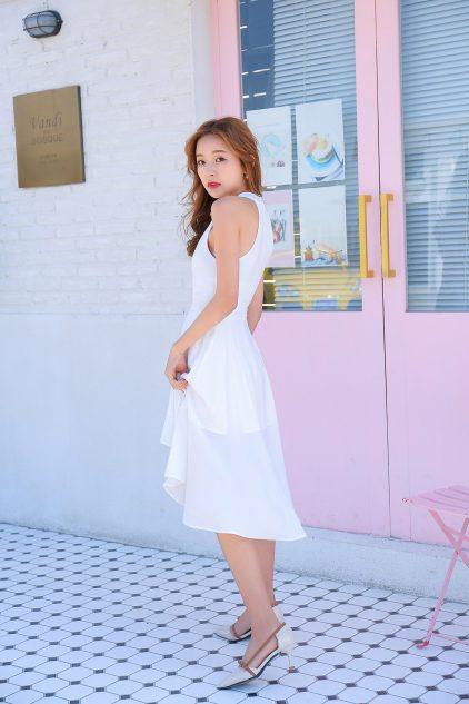 Pony Dress White