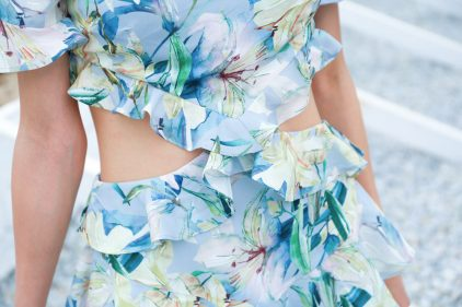 Ruffles Dress in Spring