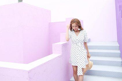 Dottie Wrap Dress in White