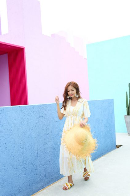 Summer Midi Dress Yellow
