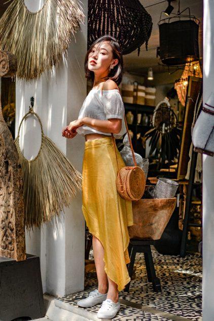 MCD Asymmetrical skirt Mustard
