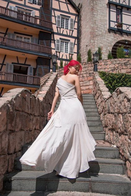Megamie Dress in White
