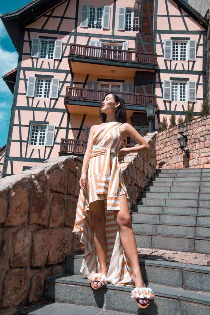 Megamie Dress in Stripeline