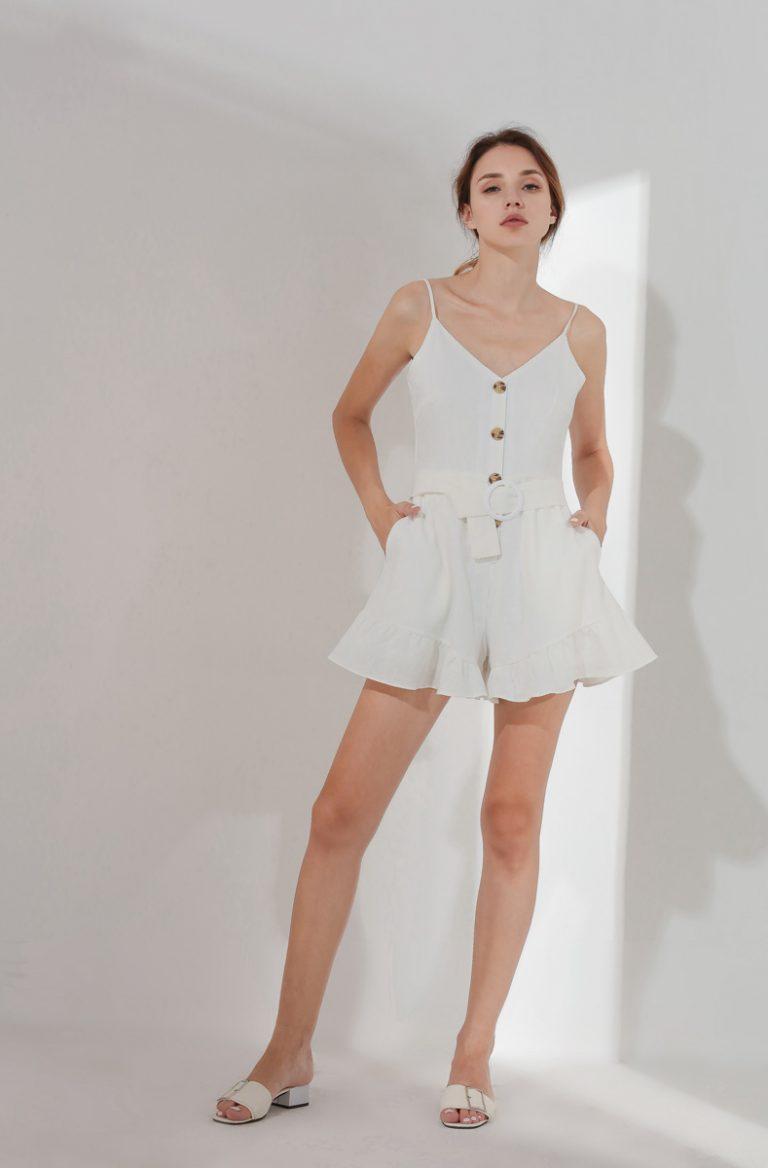 Barbara Playsuit White (BACKORDER) 5