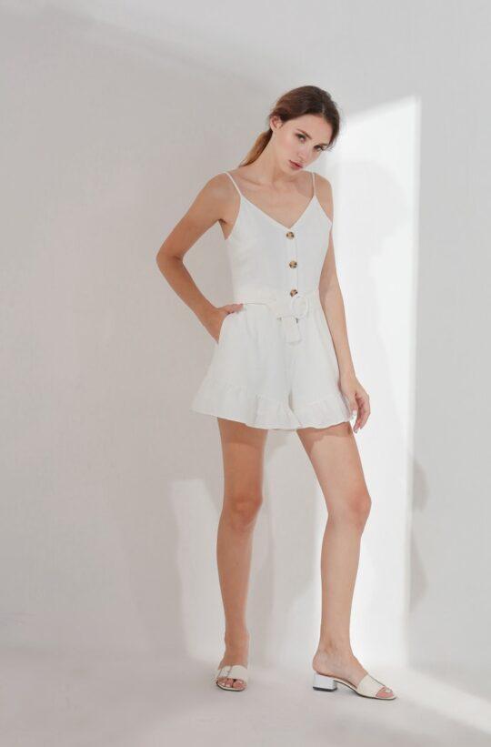 Barbara Playsuit White (BACKORDER) 3