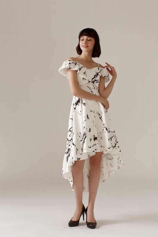 Asymmetrical Dress Marble 3