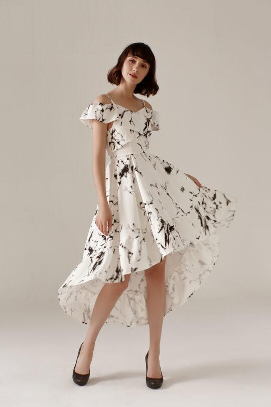 Asymmetrical Dress Marble 5