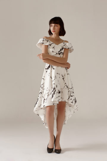 Asymmetrical Dress Marble 10