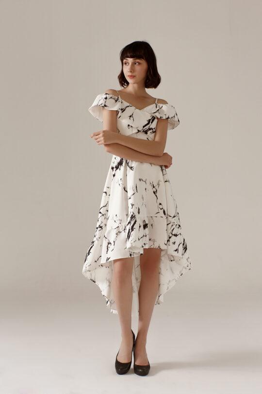 Asymmetrical Dress Marble 6