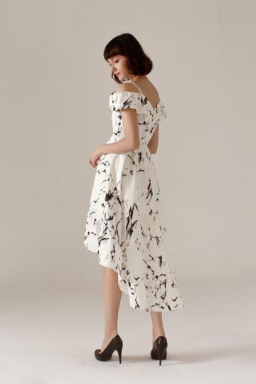 Asymmetrical Dress Marble 11