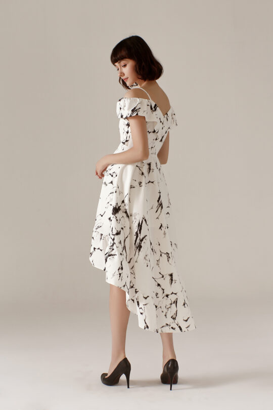 Asymmetrical Dress Marble 7