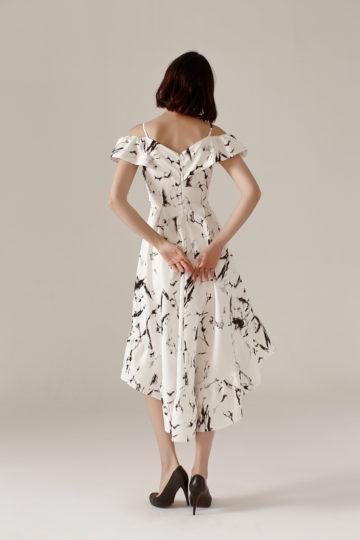 Asymmetrical Dress Marble 8