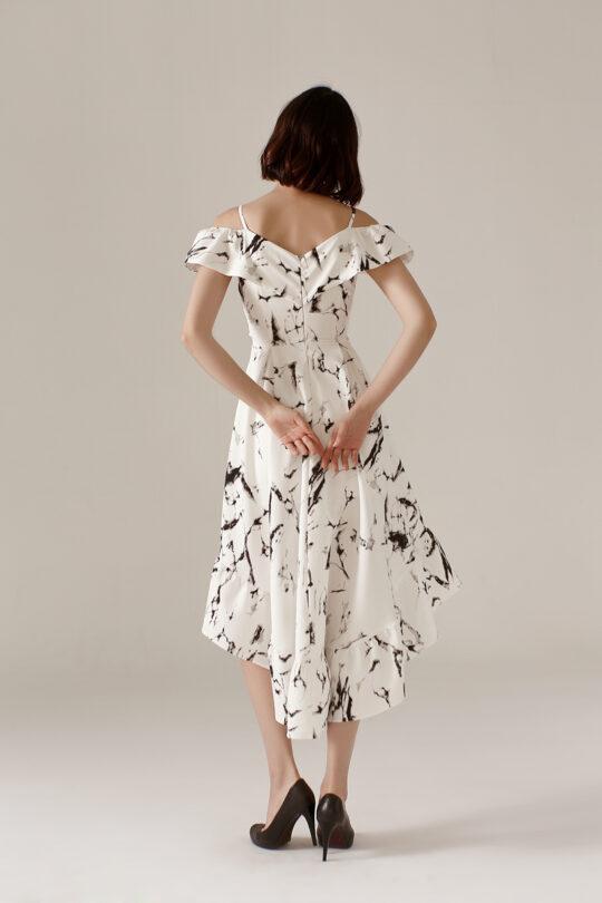 Asymmetrical Dress Marble 4