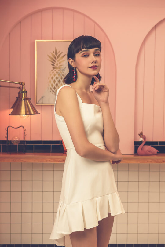 Bunny Dress White 6