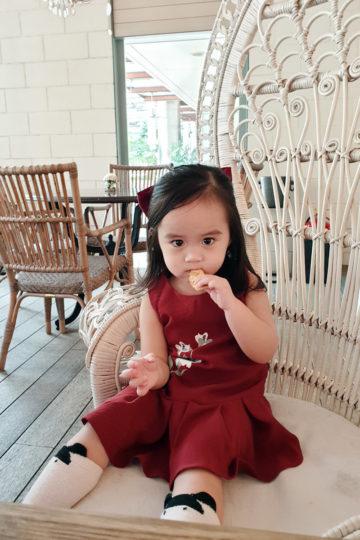 Baby Chenxi Dress Burgundy 11