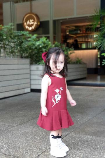 Baby Chenxi Dress Burgundy 9