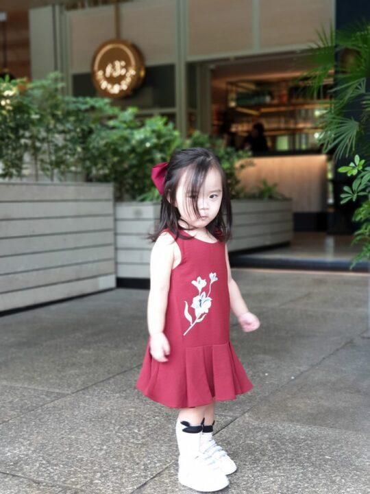 Baby Chenxi Dress Burgundy 5