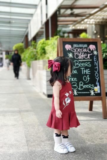 Baby Chenxi Dress Burgundy 10