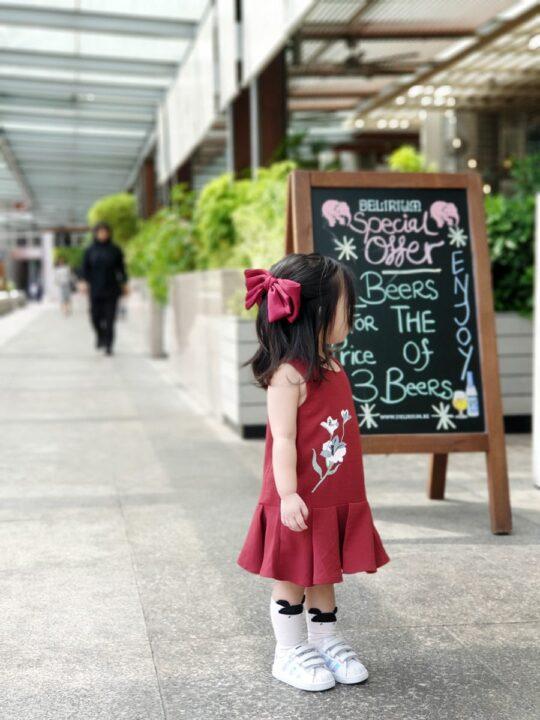 Baby Chenxi Dress Burgundy 6
