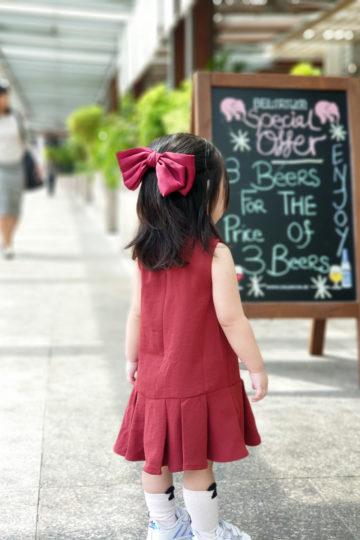 Baby Chenxi Dress Burgundy 8