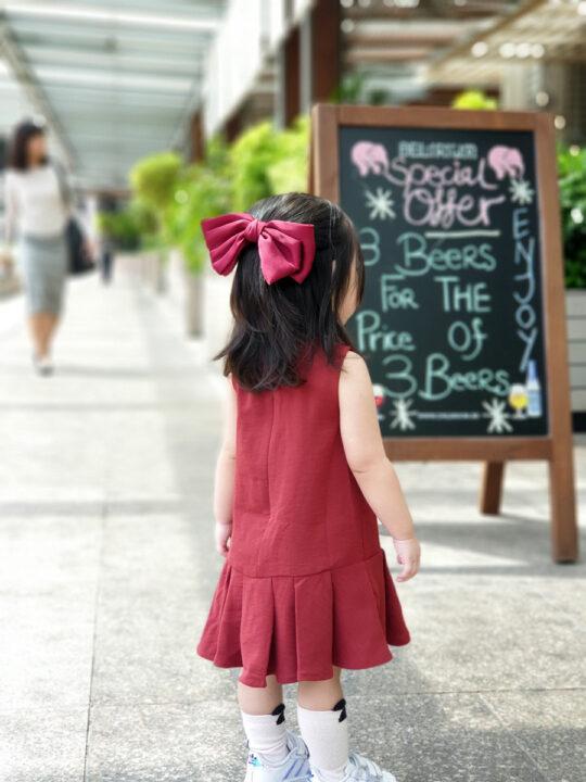 Baby Chenxi Dress Burgundy 4