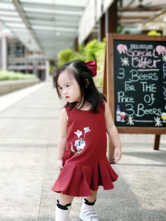 Baby Chenxi Dress Burgundy 3