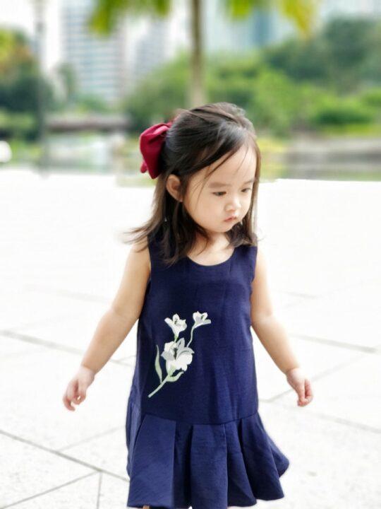 Baby Chenxi Dress Navy Blue 7