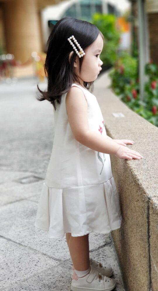 Baby Chenxi Dress White 5