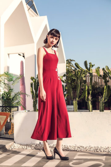 Alina Playsuit Red 11