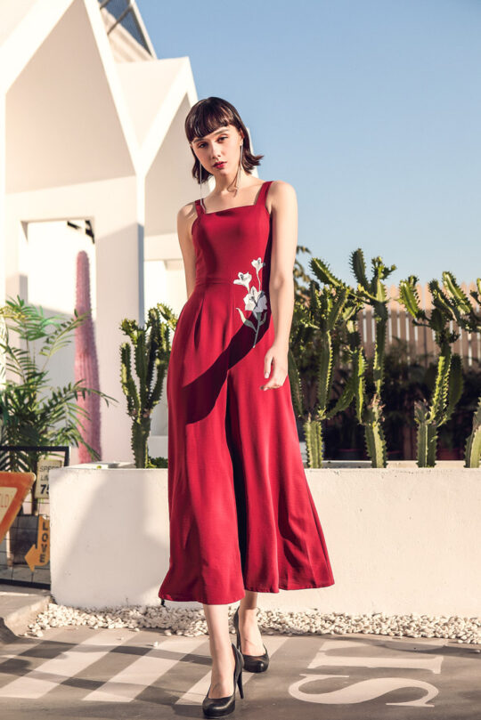 Alina Playsuit Red 3