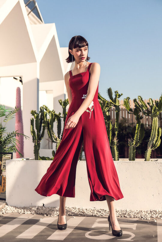 Alina Playsuit Red 4