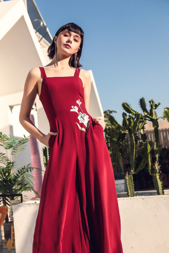 Alina Playsuit Red 8