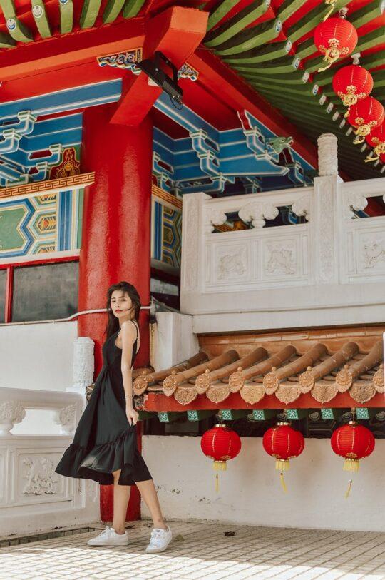 Phoenix Midi Dress Black 4