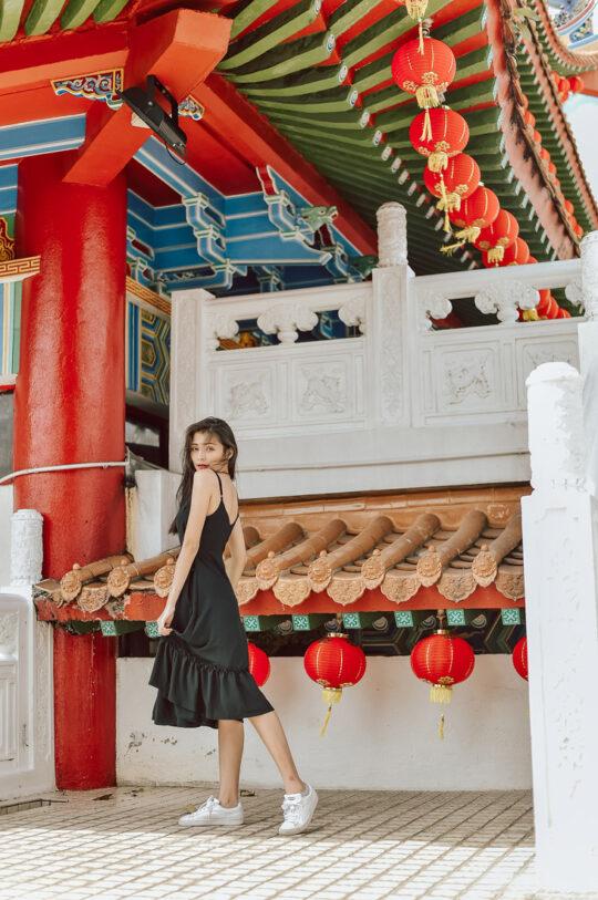 Phoenix Midi Dress Black 5