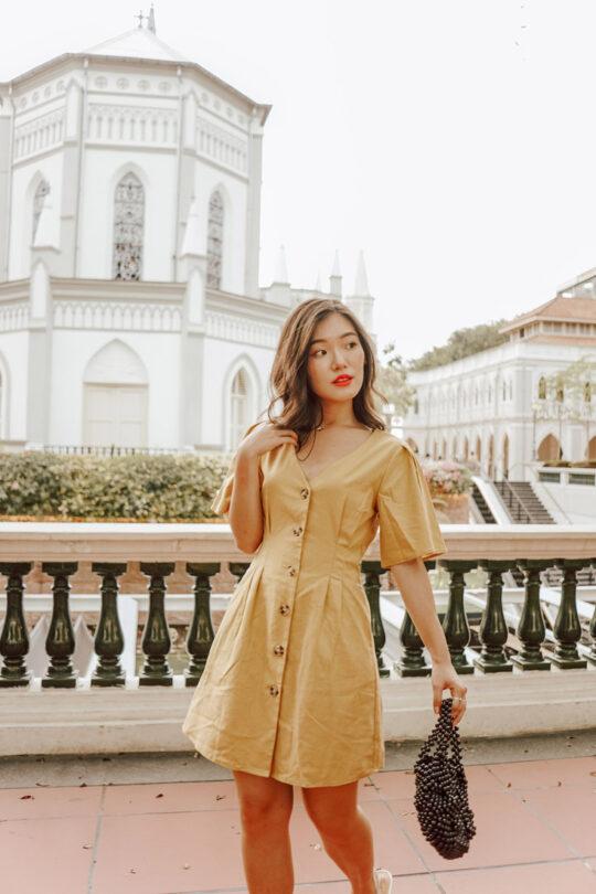 Zira Dress Mustard 3
