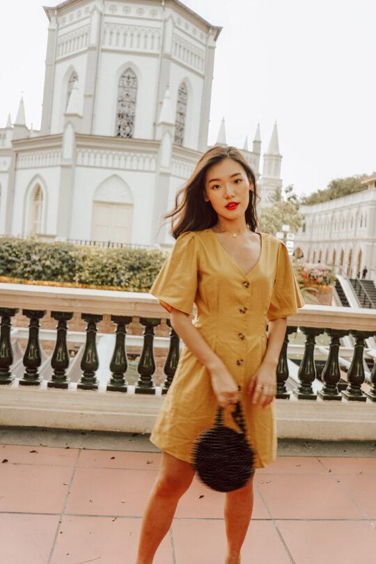 Zira Dress Mustard 8
