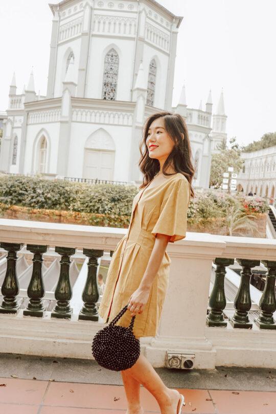 Zira Dress Mustard 5