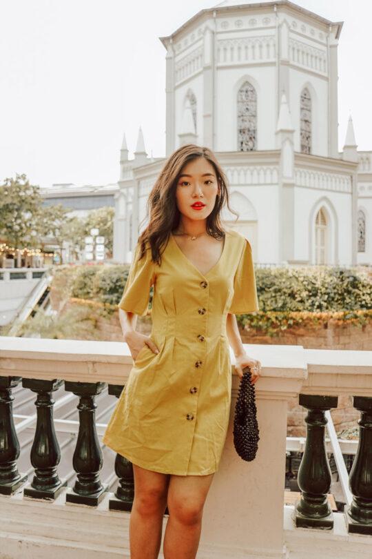 Zira Dress Mustard 6