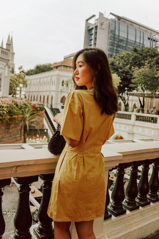 Zira Dress Mustard 4