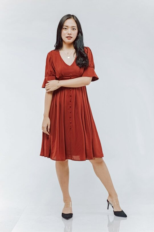 Sly Dress Brick Red 3